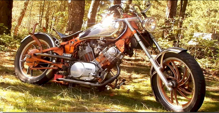 Shamya-Twain, aka. The Copper Chopper, 1981 XV920 Roadster, built by Doctor Virago